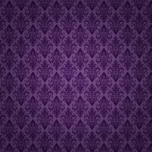 high resolution patterned wallpaper - baroque stock photos and pictures