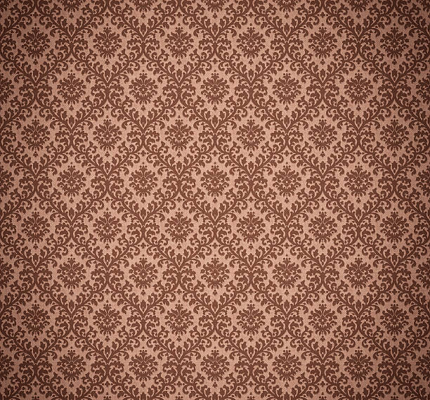 High Resolution Patterned Wallpaper Beautiful Old fashioned wallpaper pattern, big size. wallpaper sample stock pictures, royalty-free photos & images