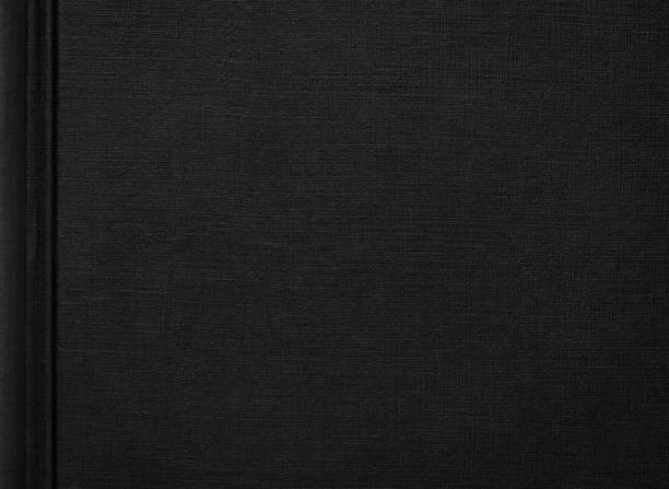 Hochauflösendes Foto eines schwarzen Buchumschlags – Foto