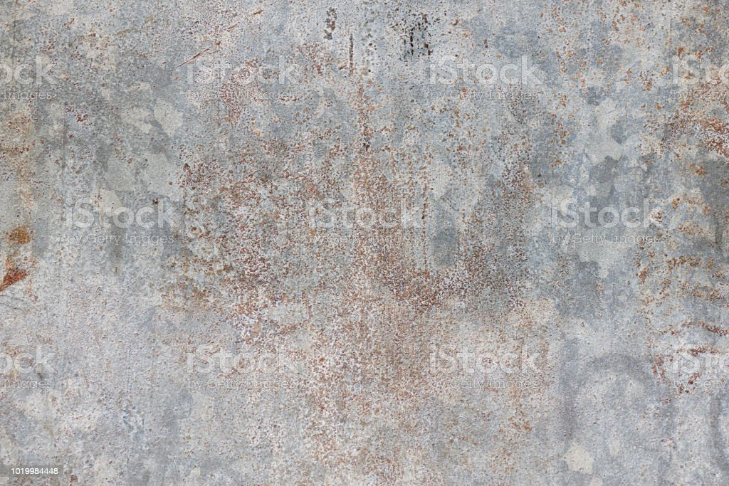 Fotografía de alta resolución de una superficie erosionada de acero galvanizada - foto de stock