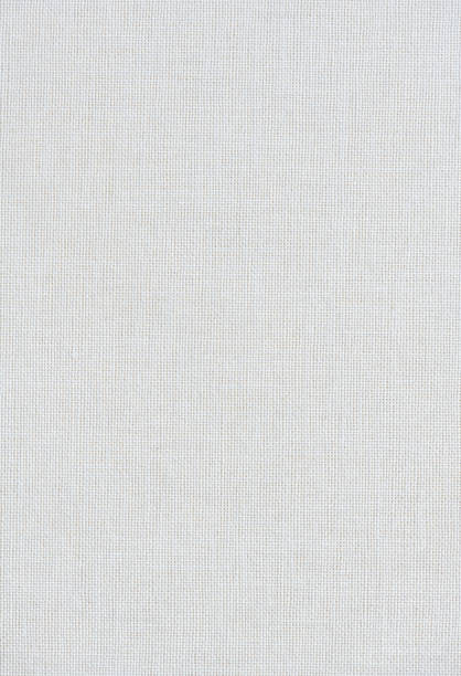 High resolution photograph of a white linen book cover stock photo