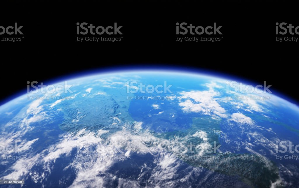 High Resolution Planet Earth view stock photo