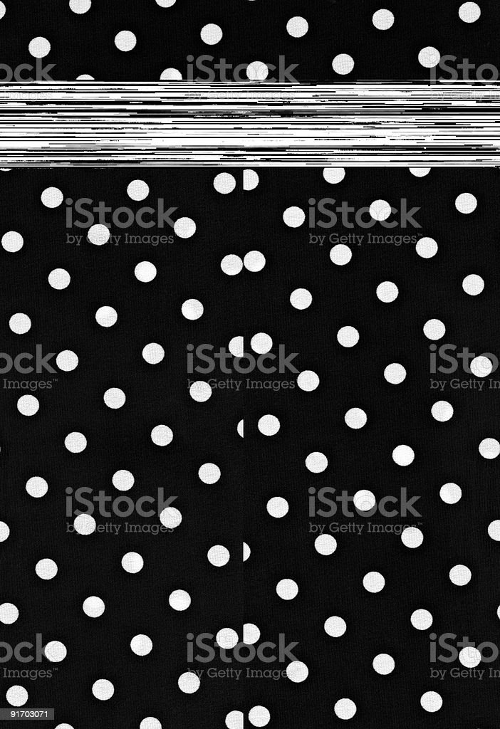 High resolution polka dot fabric background in black and white royalty-free stock photo