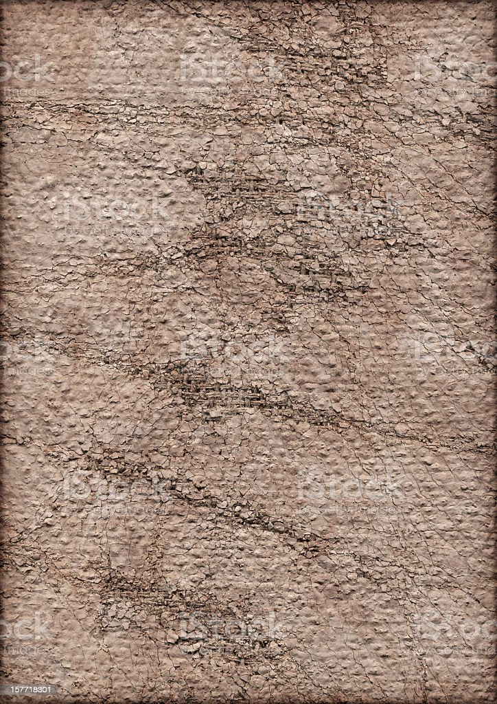 High Resolution Primed Jute Canvas Cracked Exfoliated Vignette Grunge Texture royalty-free stock photo
