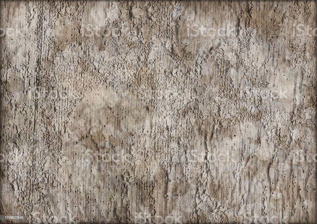 High Resolution Primed Jute Canvas Crumpled Mottled Vignette Grunge Texture royalty-free stock photo