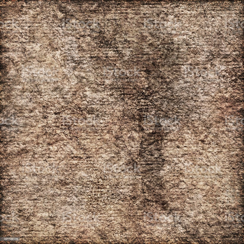 High Resolution Primed Jute Canvas Crushed Burnt Vignette Grunge Texture royalty-free stock photo