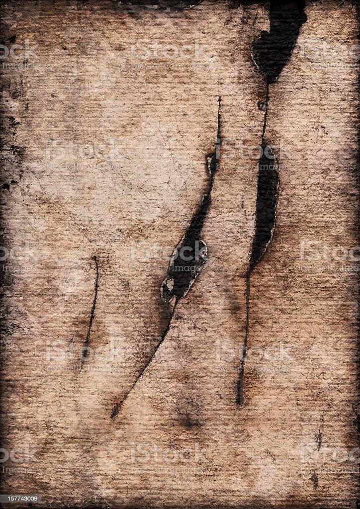 High Resolution Primed Jute Canvas Cut Burnt Vignette Grunge Texture royalty-free stock photo