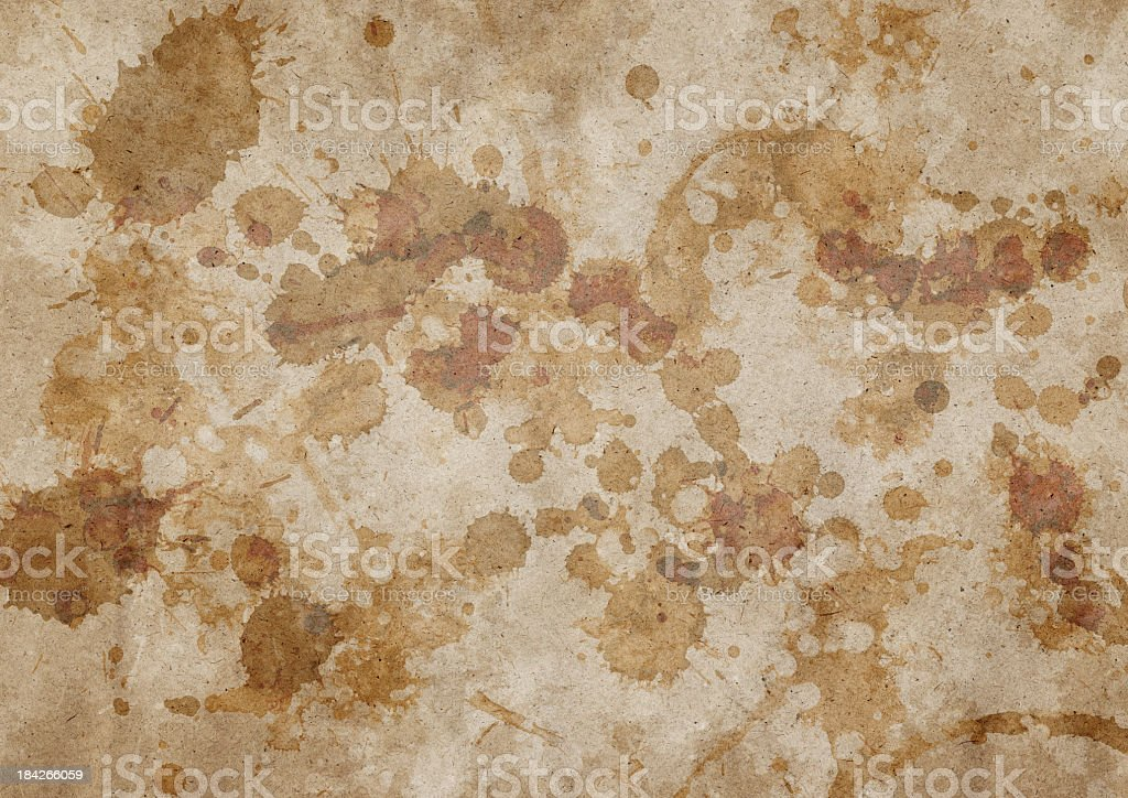 High Resolution Recycled Beige Wrapping Paper Mottled Grunge Texture royalty-free stock photo