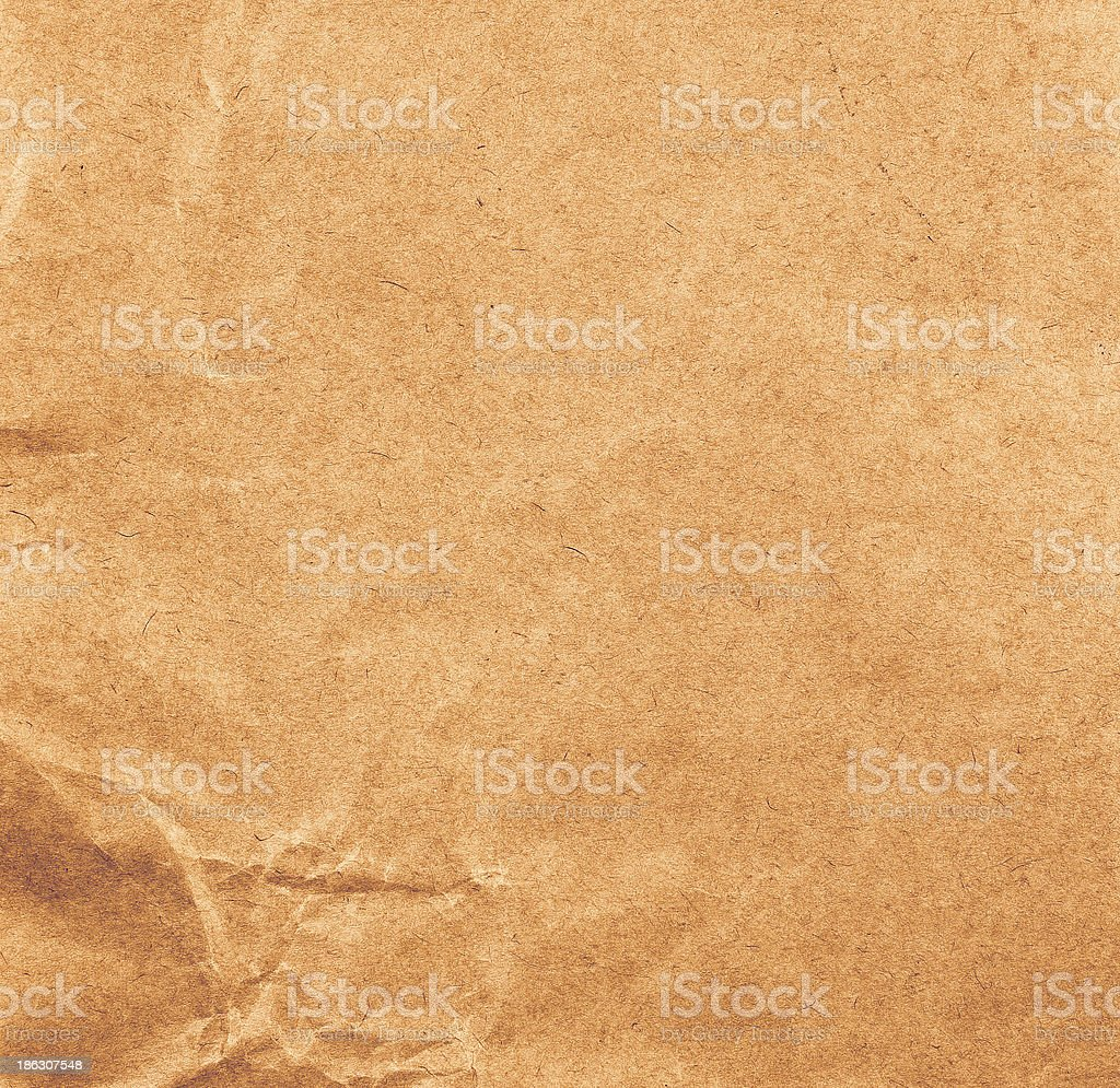 High resolution recycled brown cardstock with halftone royalty-free stock photo