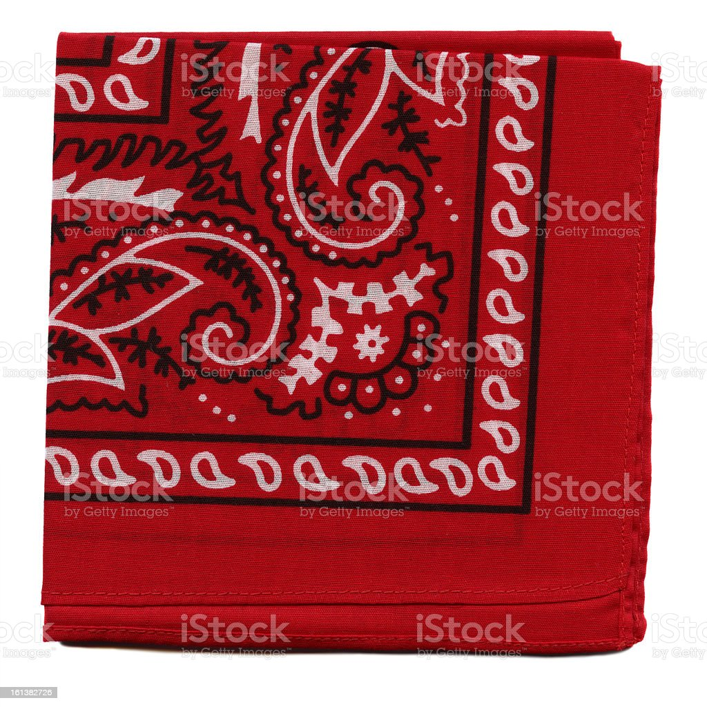 High Resolution Red Bandana Fabric stock photo