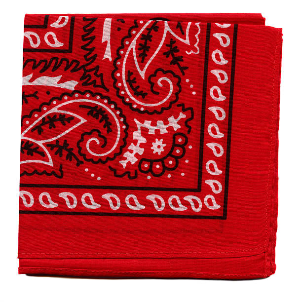 High Resolution Red Bandana Fabric stock photo