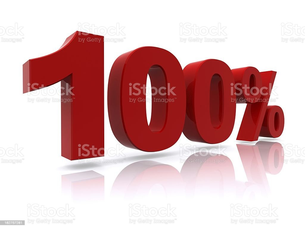 100% high resolution rendering royalty-free stock photo