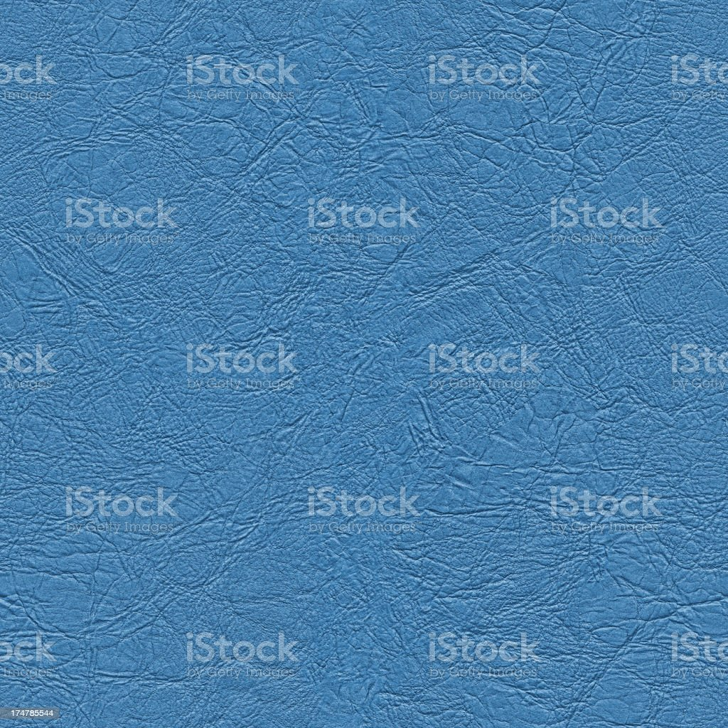 High Resolution Seamless Blue Artificial Eco Leather Crumpled Texture stock photo