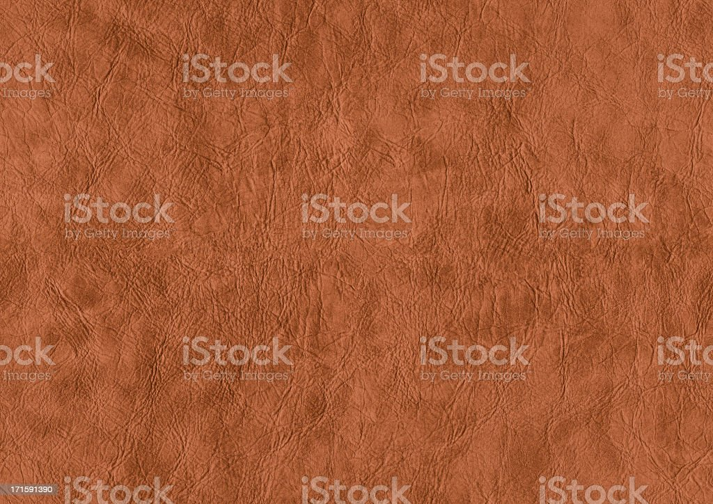 High Resolution Seamless Brown Eco Leather Crumpled Grunge Texture stock photo