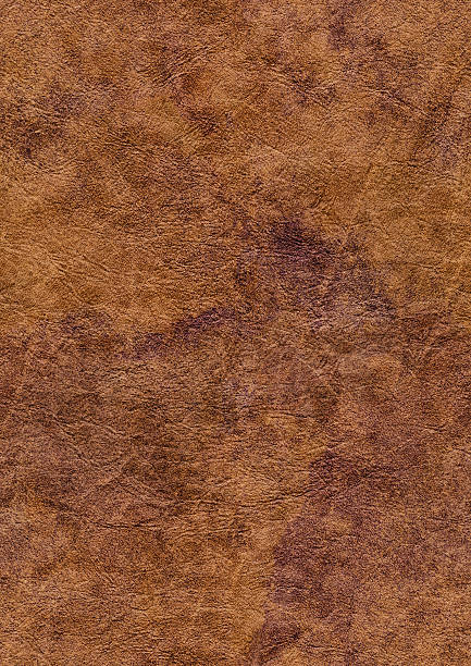 High Resolution Seamless Brown Eco Leather Crumpled Mottled Grunge Texture stock photo