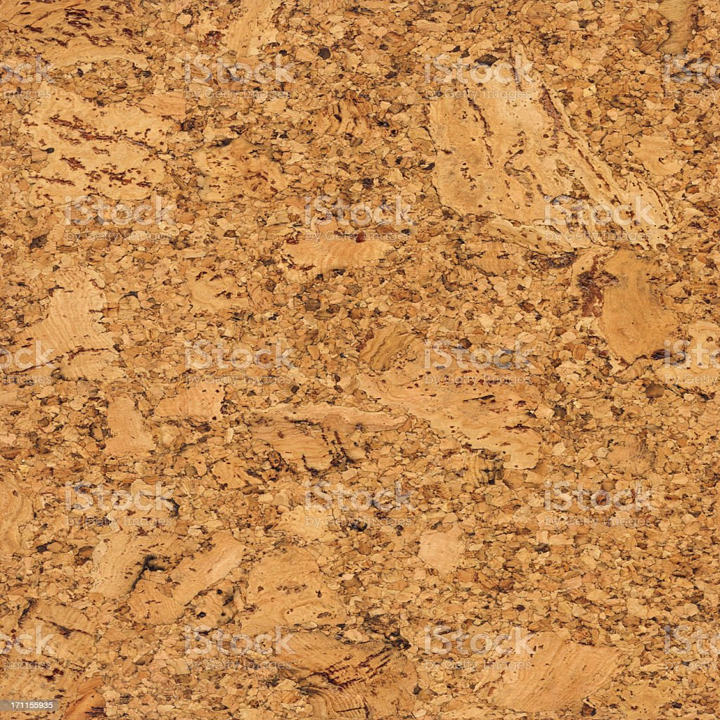 High Resolution Seamless Natural Brown Cork Texture Wall Pattern Tile stock photo