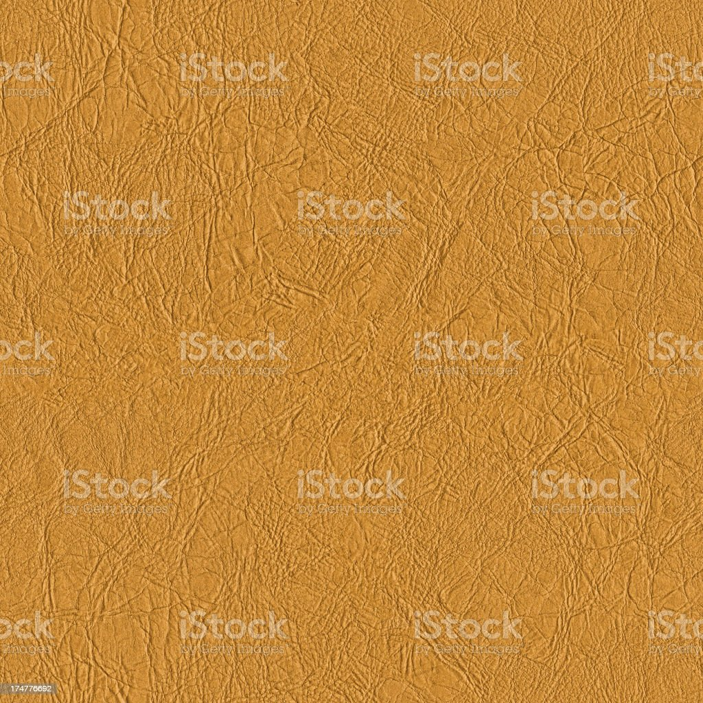 High Resolution Seamless Yellow Artificial Eco Leather Crumpled Texture stock photo
