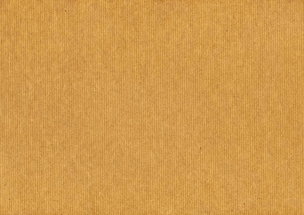 High Resolution Striped Brown Paper Grunge Texture stock photo
