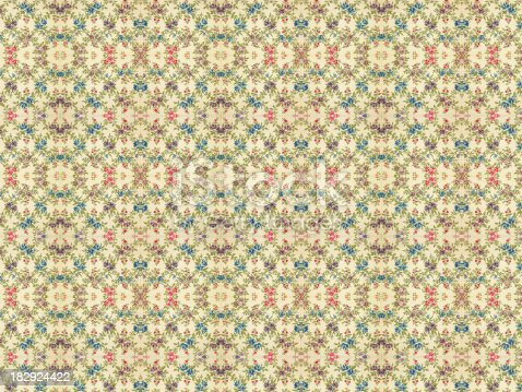 480646533 istock photo High Resolution Vintage Floral Wallpaper 182924422