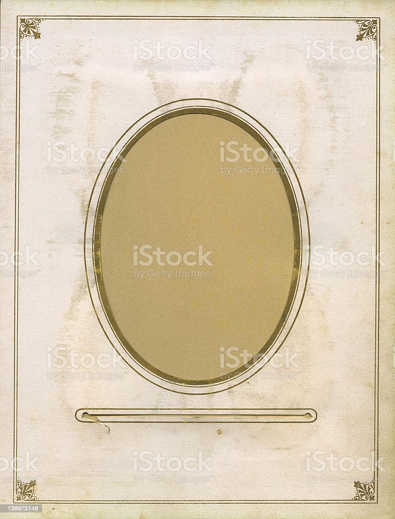 high resolution vintage frame 1890 royalty-free stock photo