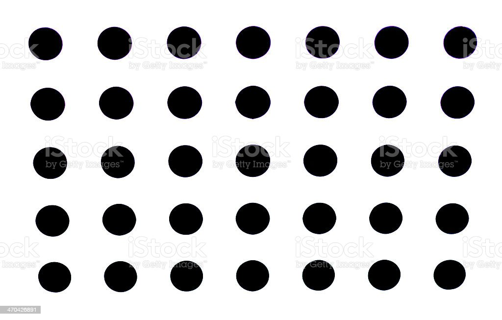High Resolution White Fabric Black Dots Texture and Background royalty-free stock photo