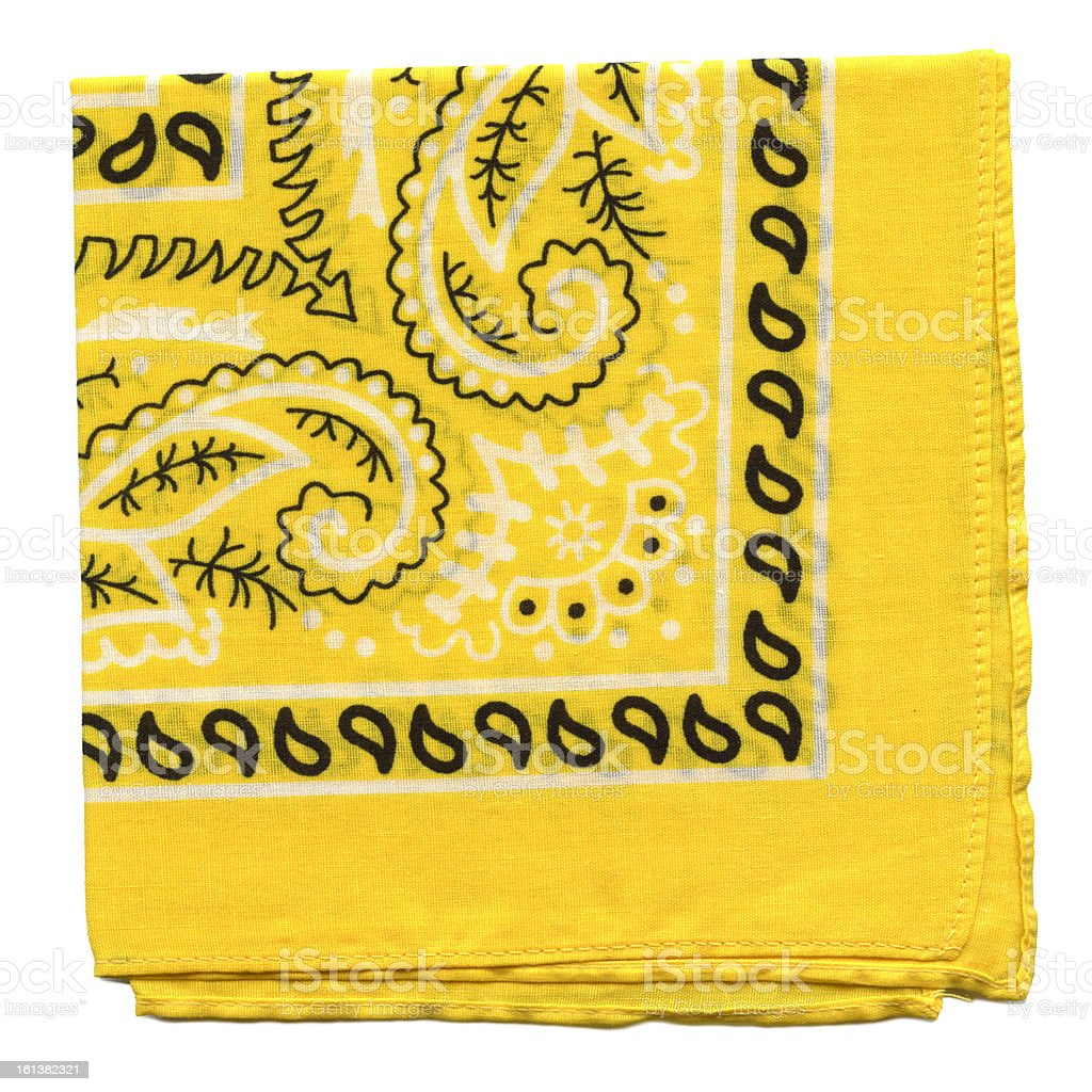 High Resolution Yellow Bandana Fabric XXXl stock photo