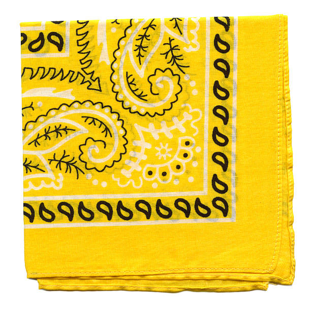High Resolution Yellow Bandana Fabric XXXl stock photo