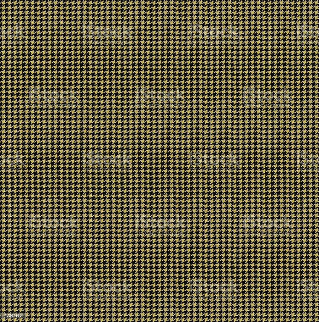 High Resolution Yellow HoundstoothTextile (XXXXLarge) royalty-free stock photo