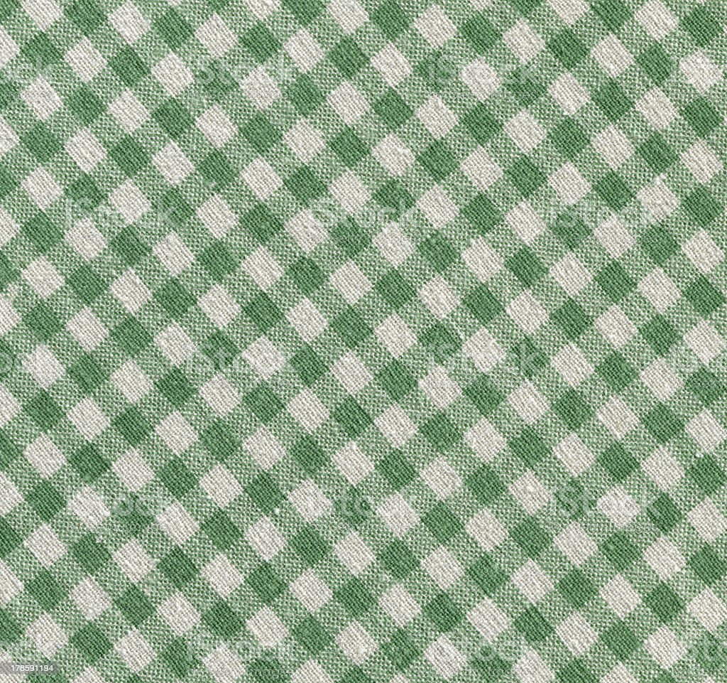 high resolution-green and white gingham texture cloth(XXXL) royalty-free stock photo