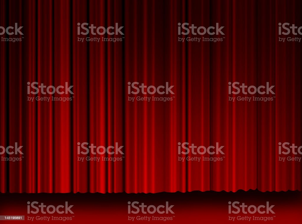 High Resulation Movie Curtains royalty-free stock photo
