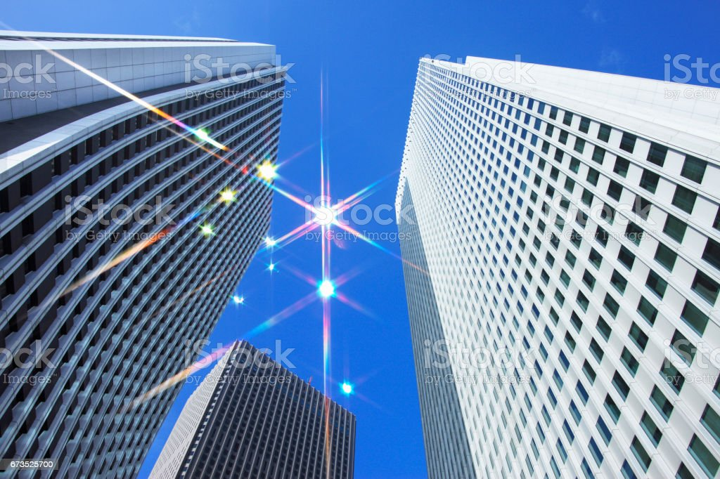 High rise building stock photo