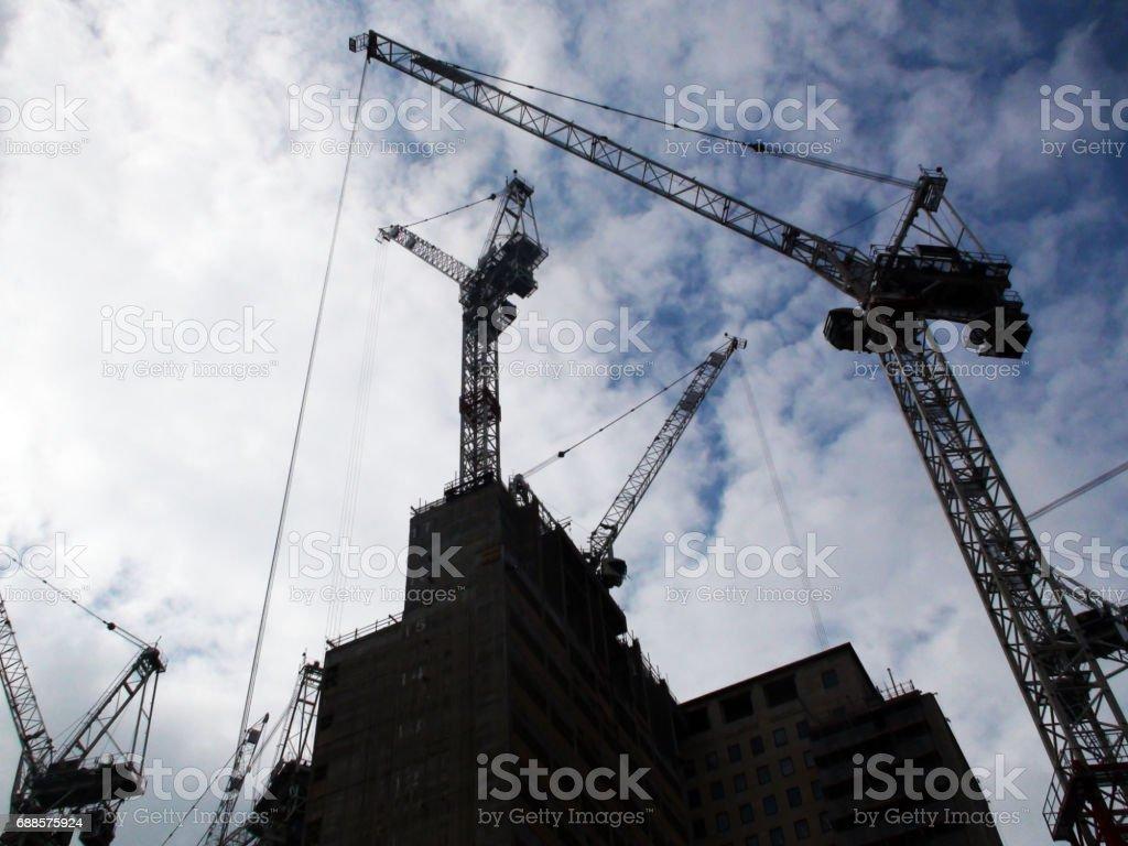 Paisaje De High Rise Construction Site En Inglaterra Europa