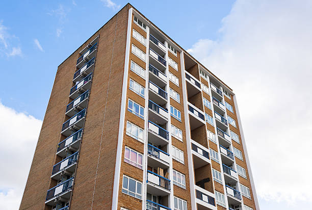 High rise council flat. stock photo