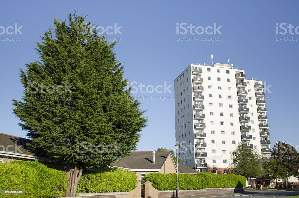 High Rise Flats in Blacon Near Chester royalty-free stock photo