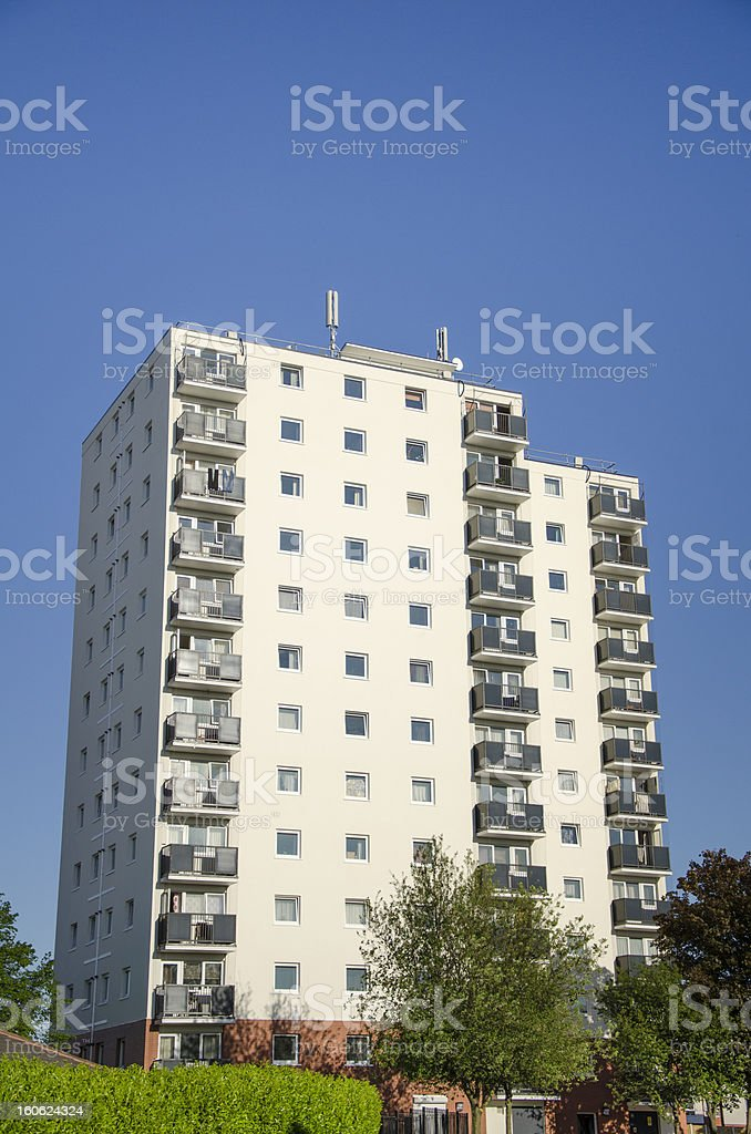 High Rise Flats in Blacon royalty-free stock photo