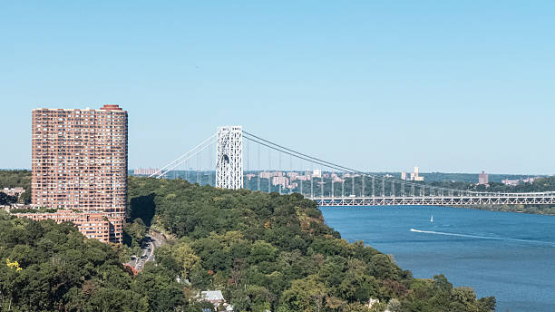 High Rise Living Fort Lee New Jersey stock photo