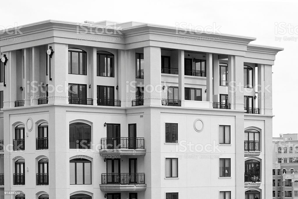 High Rise Luxury Apartment Penthouse Suite in Black & White