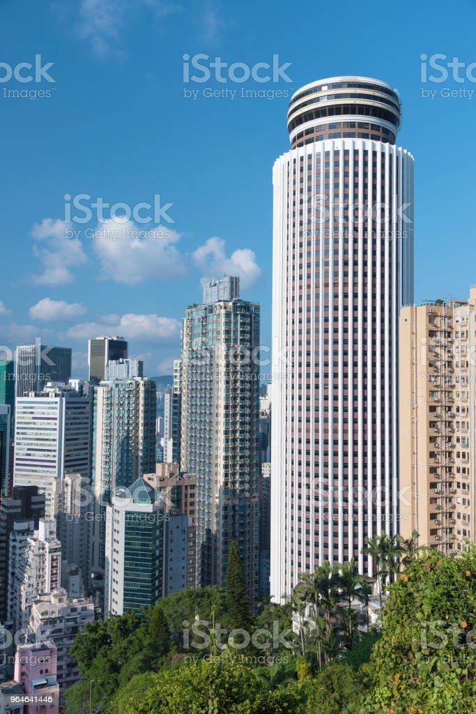 High rise modern office building in Hong Kong city royalty-free stock photo