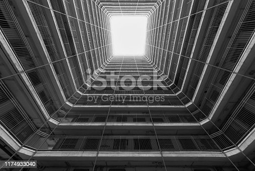 Public estate in Hong Kong. Building abstract background