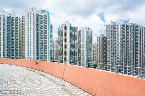 High rise residential building in Hong Kong
