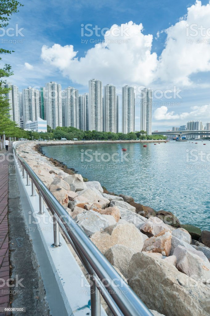 high rise residential building stock photo