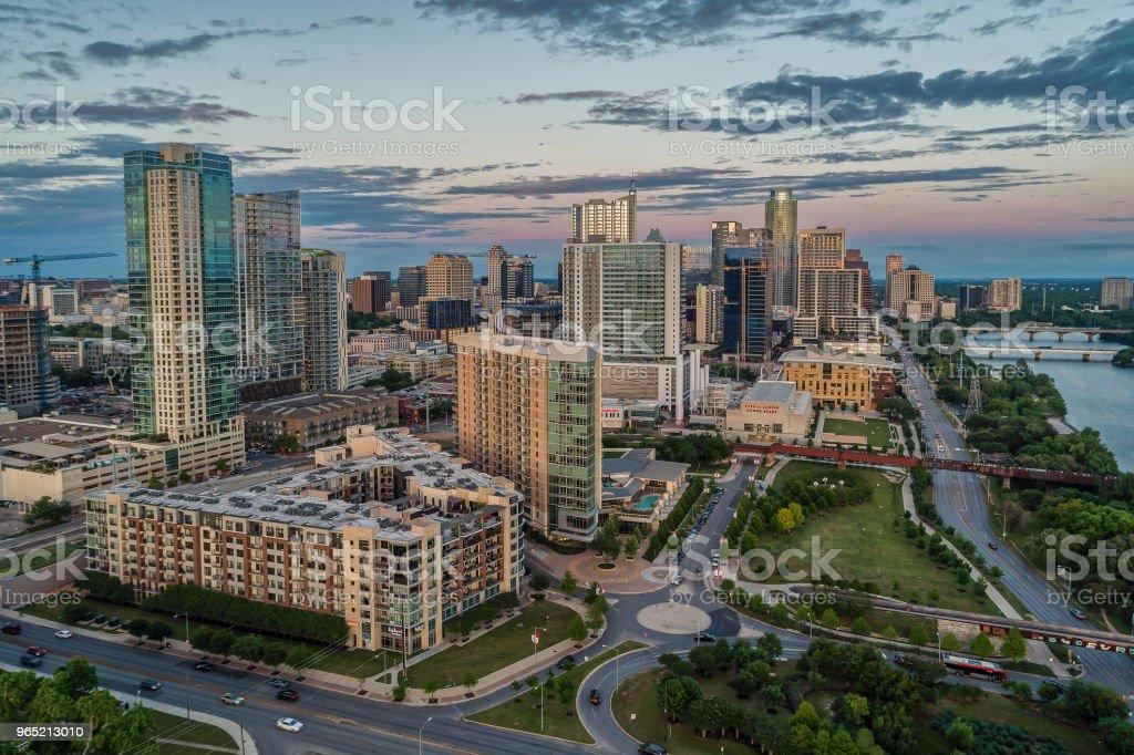 High Rise Towers in Austin, Texas zbiór zdjęć royalty-free