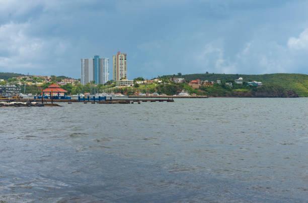 High Rises and Homes Near Fajardo Marina stock photo
