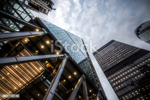 istock High rises in the City of London on a cloudy day 666119246