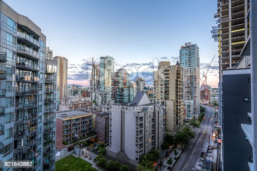 istock High rises in Vancouver's downtown on a sunny day 821643882