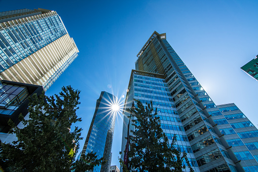 istock High rises in Vancouver's downtown on a sunny day 821648116