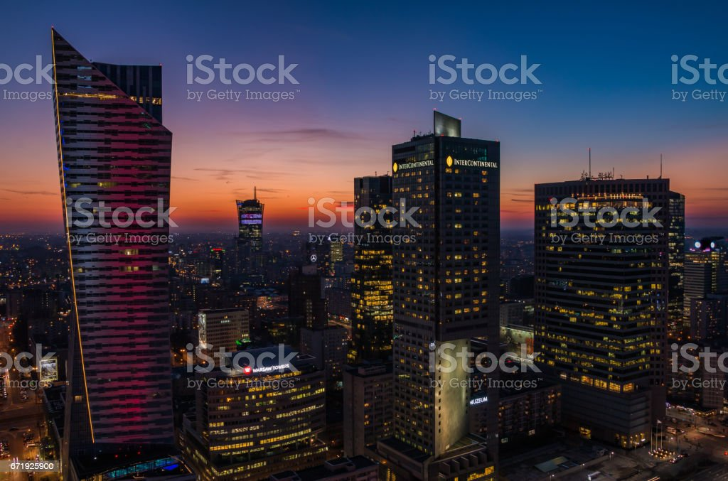 High Rises Sunset IV - fotografia de stock