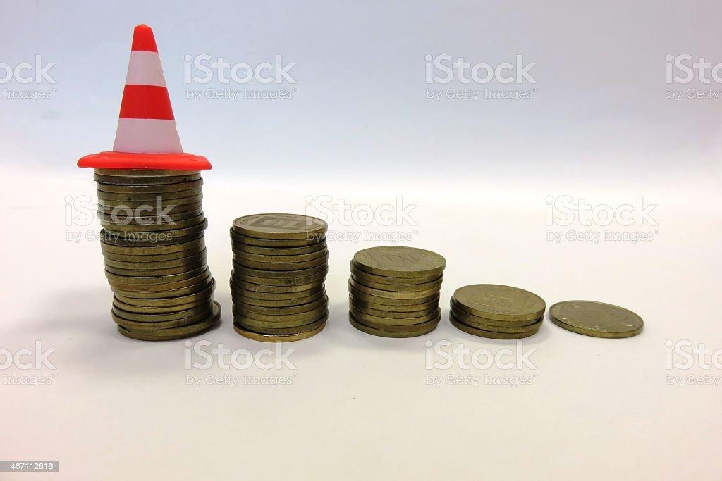 high risk high Money stock photo