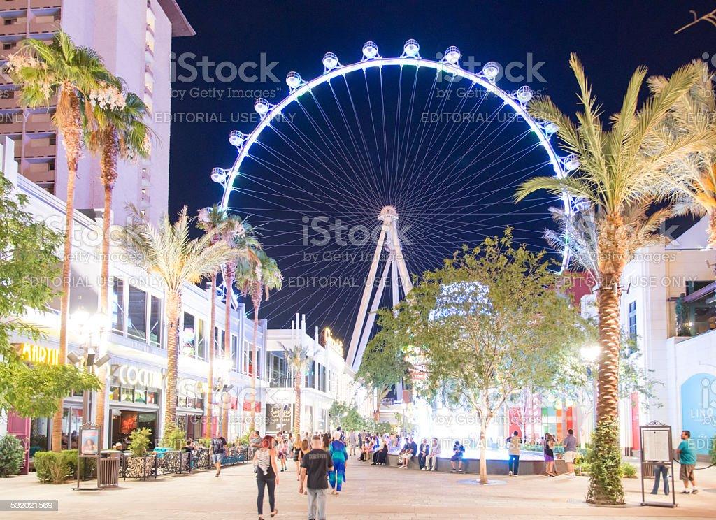 High Roller Ferris Wheel stock photo