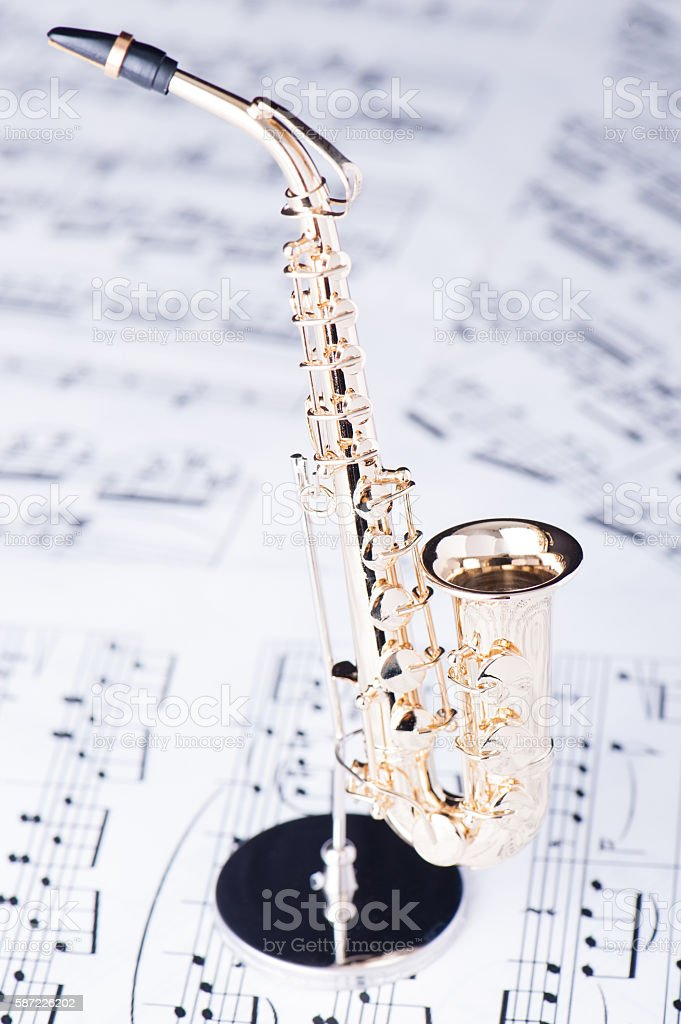 Alto sax stock photo